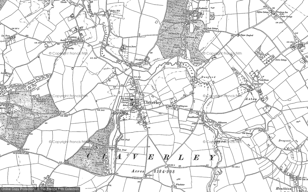 Old Map of Claverley, 1901 in 1901