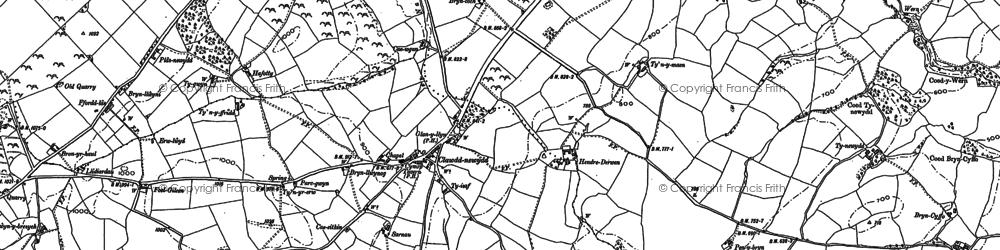 Old map of Clawdd-newydd in 1899