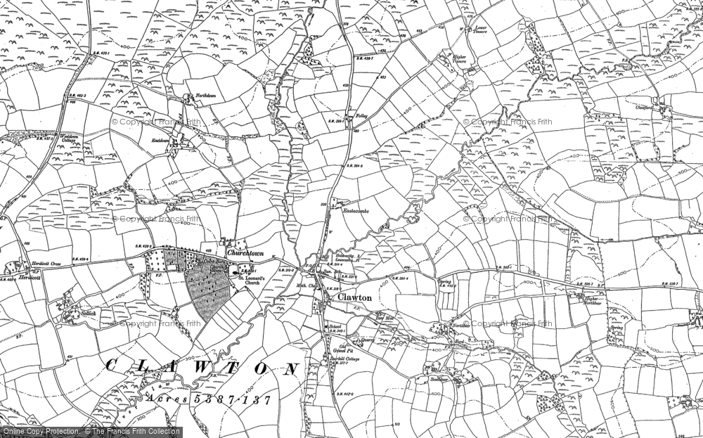 Old Map of Historic Map covering Affaland in 1883