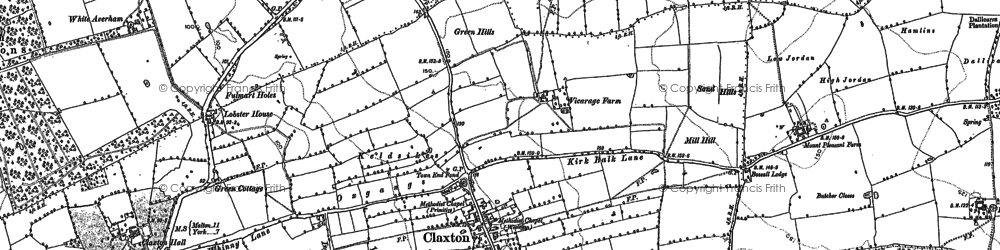 Old map of Aldby Field Ho in 1891