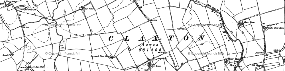 Old map of West Pastures in 1914
