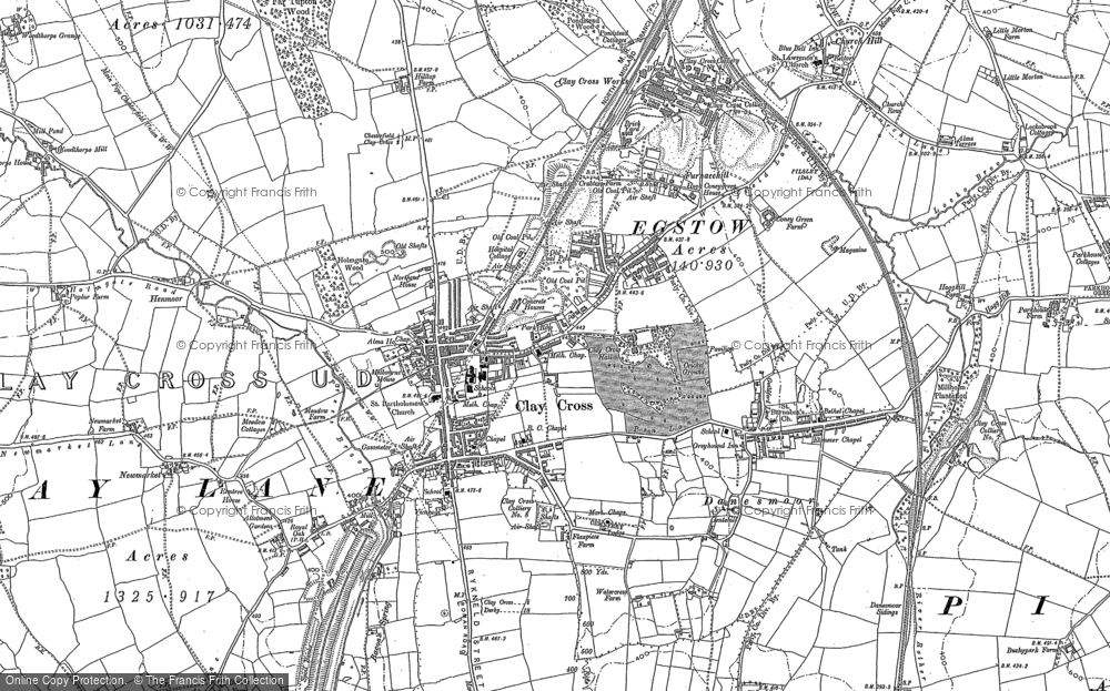 Old Map of Clay Cross, 1877 - 1879 in 1877