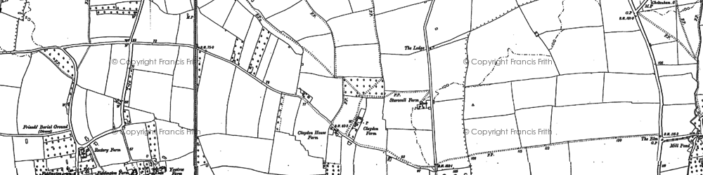 Old map of Claydon in 1883