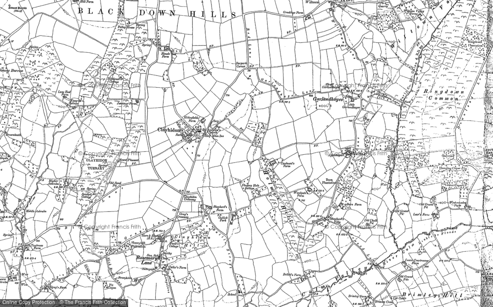 Old Map of Historic Map covering Wiltown in 1887