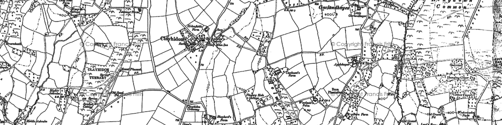 Old map of Wiltown in 1887