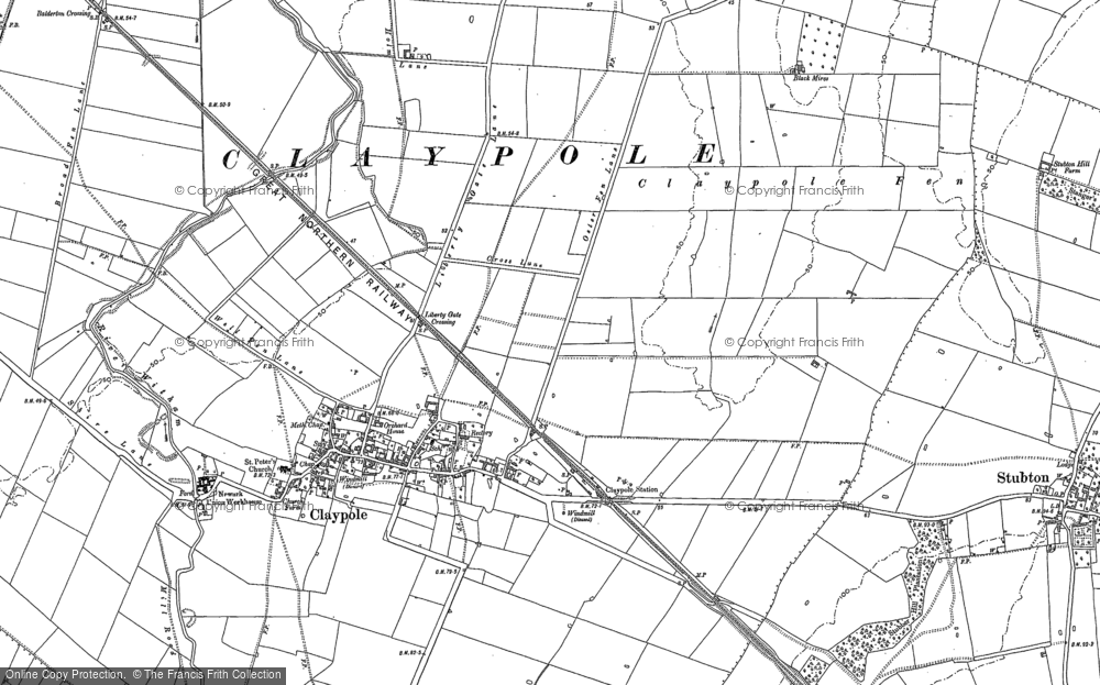 Old Map of Historic Map covering Balderfield in 1886