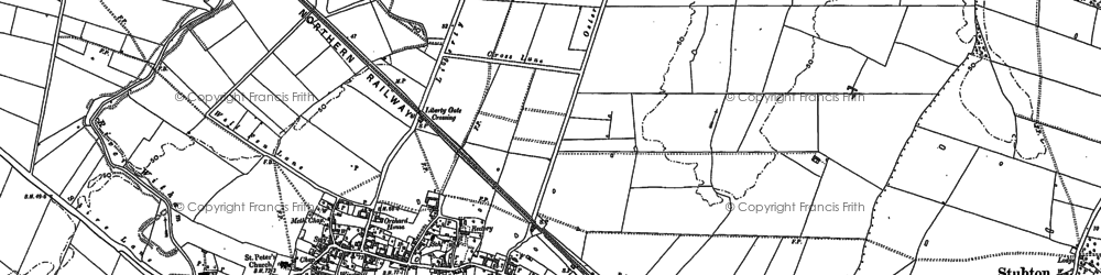 Old map of Balderfield in 1886