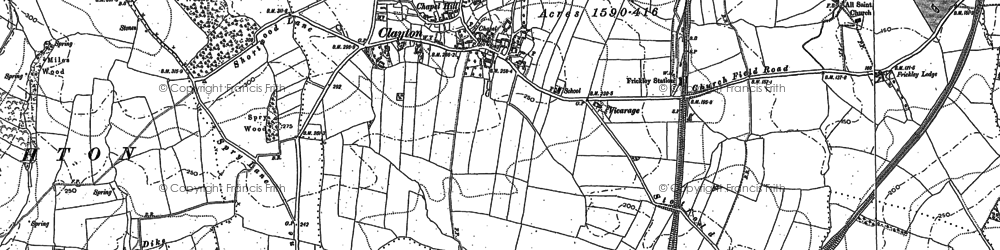Old map of Wink Ho in 1891