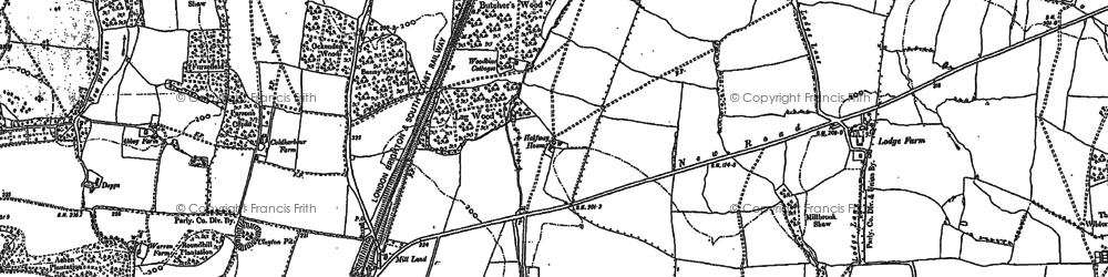 Old map of Clayton in 1896