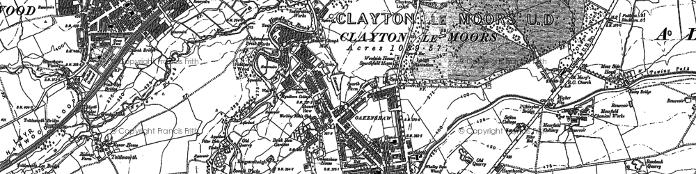 Old map of Clayton-Le-Moors in 1891