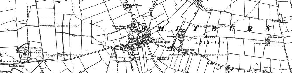 Old map of Cleadon in 1913