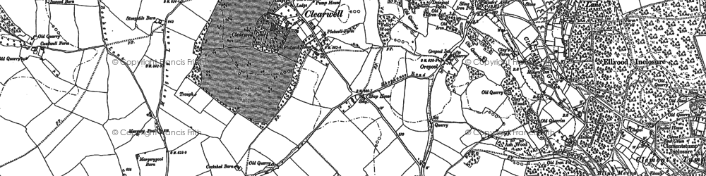 Old map of Stowe in 1900