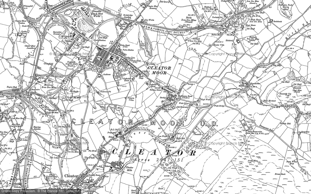 Old Map of Cleator Moor, 1898 - 1923 in 1898