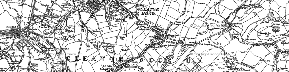 Old map of Cleator Moor in 1898