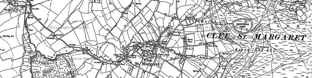 Old map of Wynett Coppice in 1883