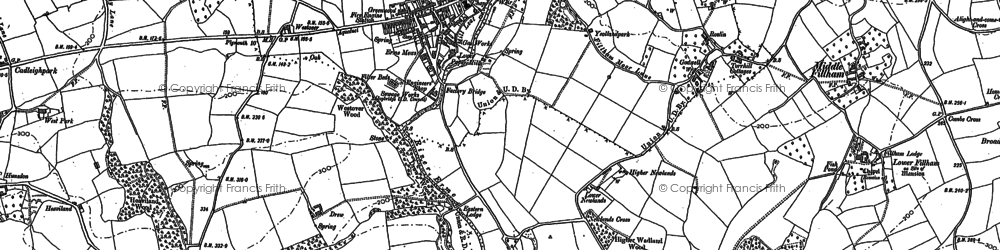 Old map of Yeolands in 1886