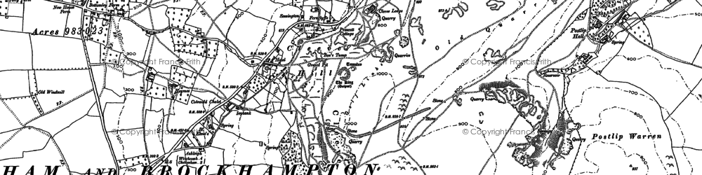 Old map of Cleeve Hill in 1883