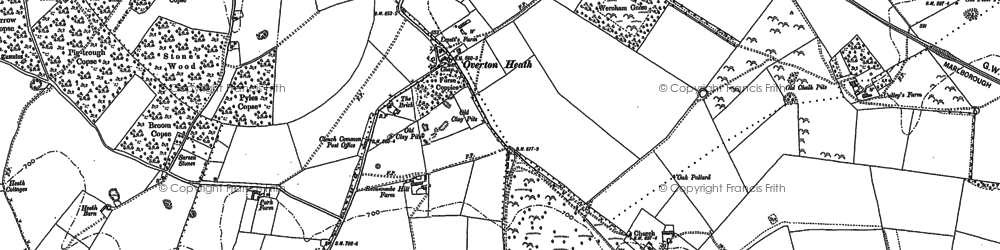 Old map of Clench Common in 1899