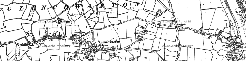 Old map of Clenchwarton in 1884