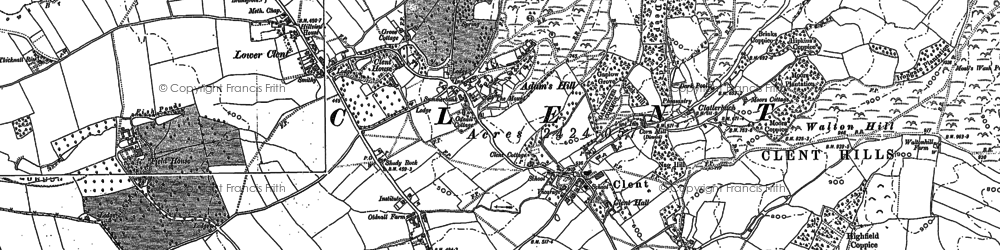Old map of Adam's Hill in 1882