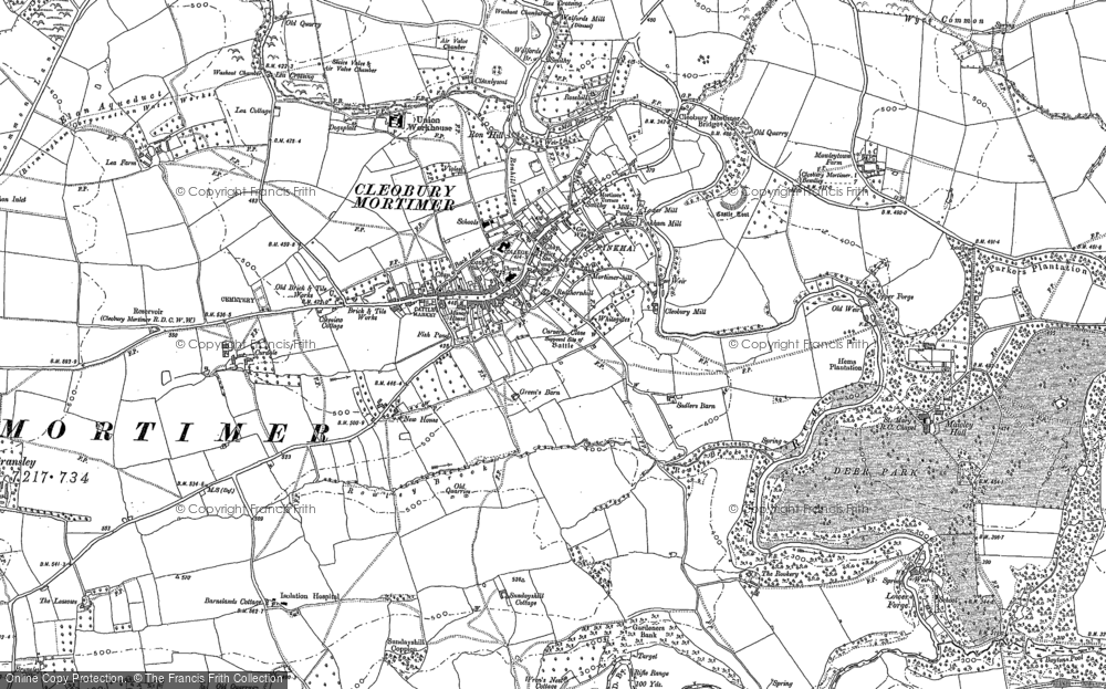 Old Map of Cleobury Mortimer, 1883 - 1902 in 1883