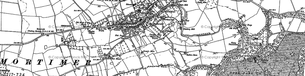 Old map of Cleobury Mortimer in 1883