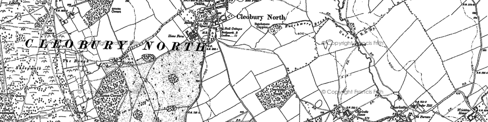 Old map of Woolers Wood in 1883