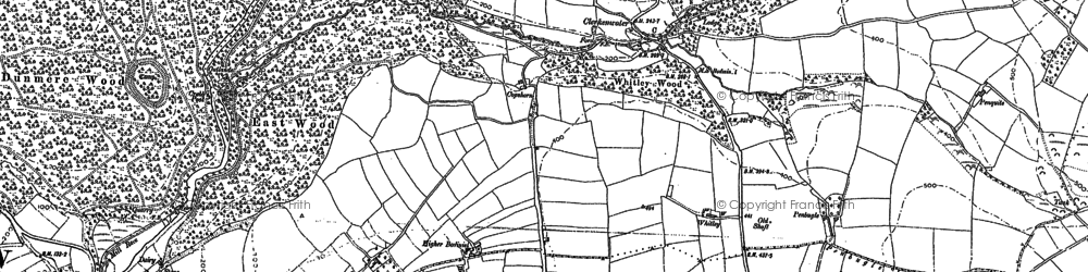 Old map of Whitley in 1880