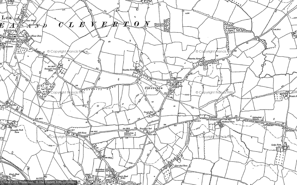 Old Map of Historic Map covering Woodbridge Brook in 1898