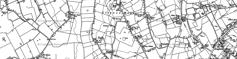 Old map of Asmall Ho in 1892