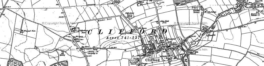 Old map of Clifford in 1891
