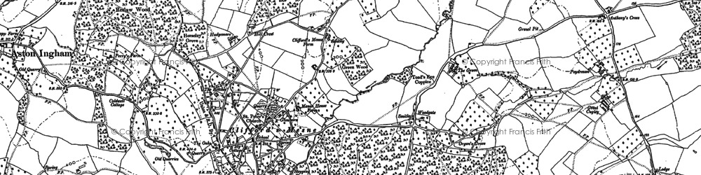 Old map of Woodgate in 1882