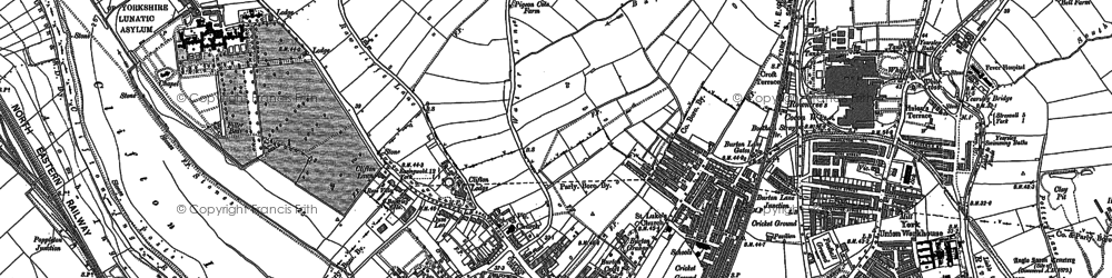 Old map of Clifton in 1890