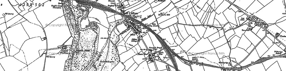 Old map of Bainbridge Gate in 1897