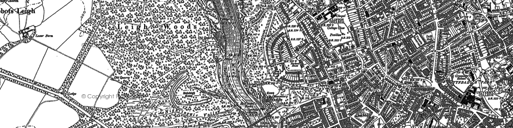 Old map of Clifton in 1902