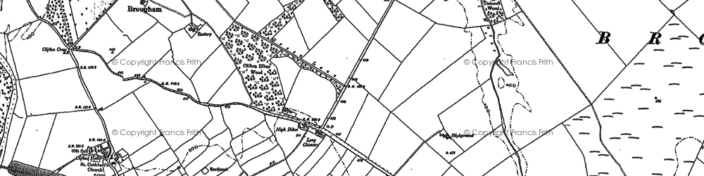 Old map of Wetheriggs in 1897