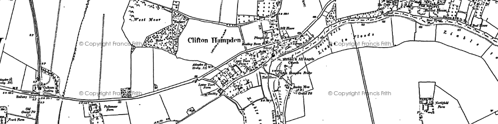 Old map of Clifton Hampden in 1897