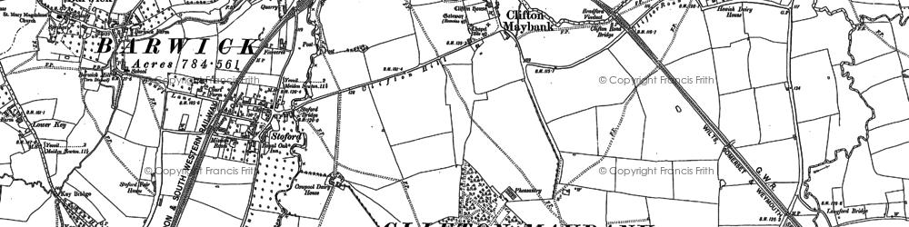 Old map of Yeovil Junc Sta in 1901