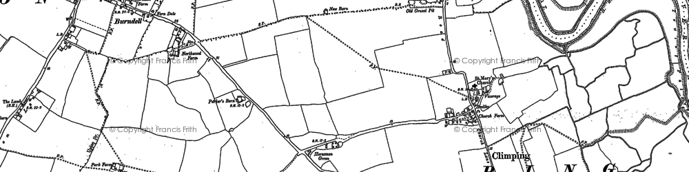 Old map of Atherington in 1878