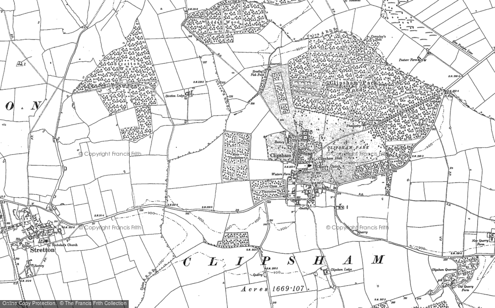Old Map of Historic Map covering Addah Wood in 1886