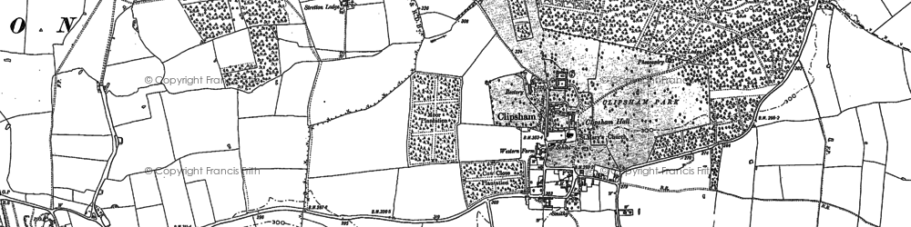 Old map of Addah Wood in 1886