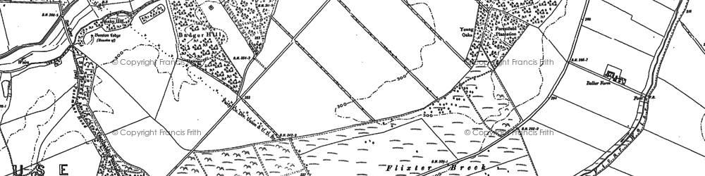 Old map of Badger Hill in 1884
