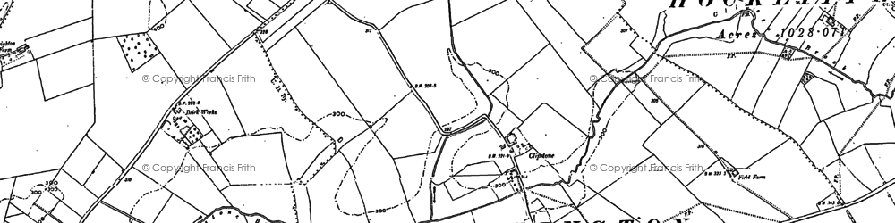 Old map of Leighton Buzzard Railway in 1900