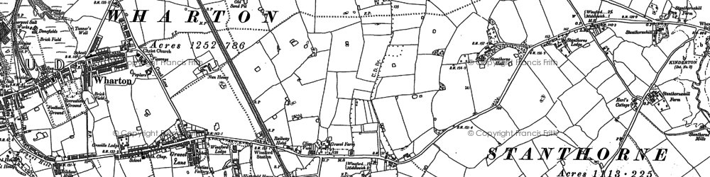 Old map of Wharton Green in 1897