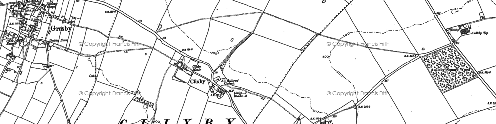 Old map of Audleby Low Covert in 1886