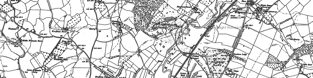 Old map of Cloakham in 1903