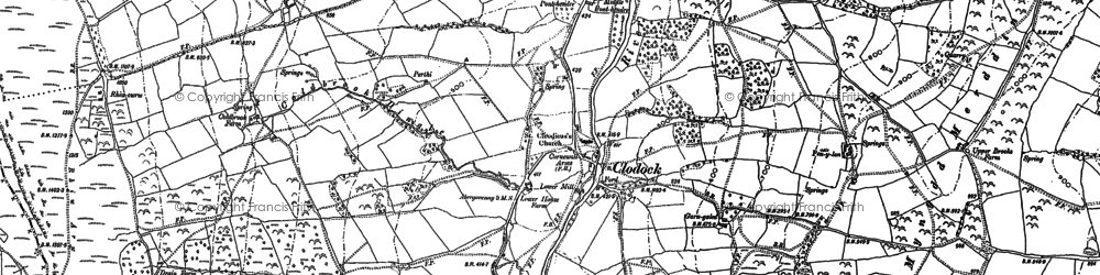 Old map of Clodock in 1887