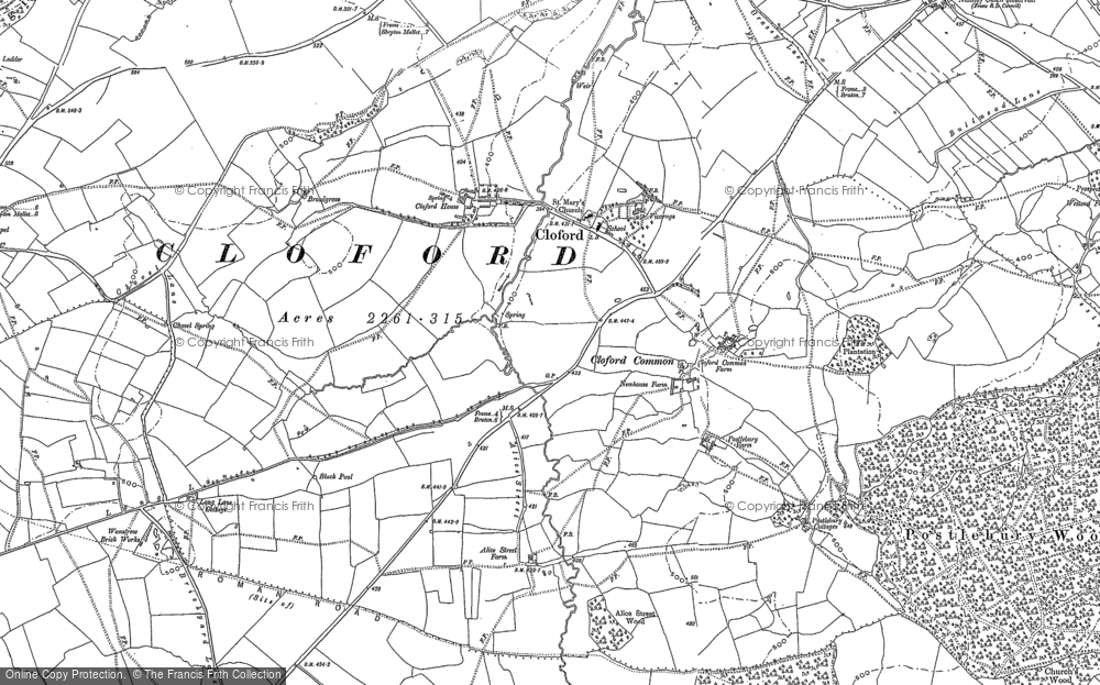 Old Map of Cloford, 1884 - 1902 in 1884