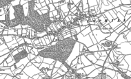 Old Map of Clophill, 1882