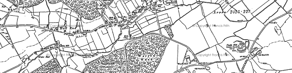 Old map of River Flit in 1882